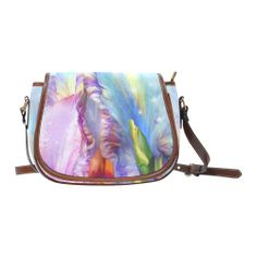 Abstract mystical Saddle Bag/Large (Model 1649)