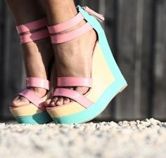 loving these pastel wedges.