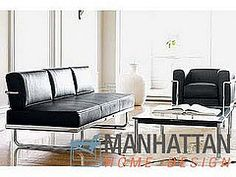 LC5 Italian Leather - black sofa bed http://manhattanhomedesign.com/