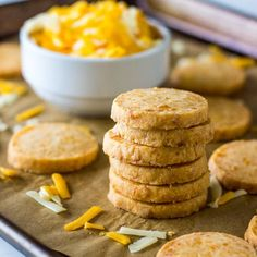 These Cheddar Cheese Coins are cheesy, buttery, zesty bites that are steps above store bought crackers.