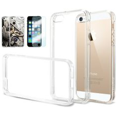 [AIR CUSHION] Spigen Apple iPhone 5S / 5 Case **New Release** ULTRA HYBRID [Crystal Clear] [1 FREE Premium Japanese Screen Protector + 2 FREE Graphics] Bumper Case with Scratch Resistant Clear Back Panel + Air Cushion Technology Corners for iPhone 5S / 5 - ECO-Friendly Package - Crystal Clear (SGP10640) Sale - http://mydailypromo.com/air-cushion-spigen-apple-iphone-5s-5-case-new-release-ultra-hybrid-crystal-clear-1-free-premium-japanese-screen-protector-2-free-graphics-bumper