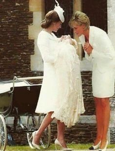 "Lily: I know you are a fan. This beautiful pic Photoshopped by Lori Vee Eastwood titled ""Heavenly Heels"" of the late Princess Diana gazing at Princess Charlotte."