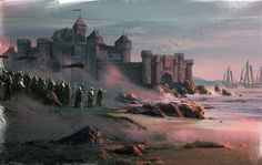 Duskendale is a large port town off the coast of Blackwater Bay. It is located northeast of King's Landing and Rosby in the Crownlands. Formerly ruled by the Darklyns, it is now the seat of House Rykker.