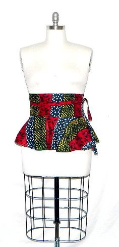 African Print Plus Size Peplum Belt size 14 -20