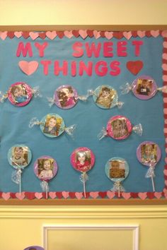 Check out these Easy Valentines Day Classroom Crafts for Kids to Make - Bulletin Boards! You can buy all the supplies you need at your local dollar store for these awesome Valentines art projects for toddlers February Bulletin Boards, Valentines Day Bulletin Board, Kinder Valentines, Preschool Bulletin Boards, Valentine Theme, Valentine Crafts For Kids, Valentines Day Decor Classroom, Valentine Activities, Valentines Art