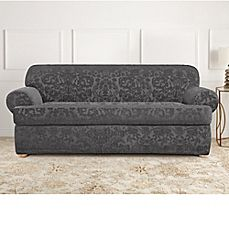 Sure Fit® Stretch Jacquard T Cushion Sofa Slipcover