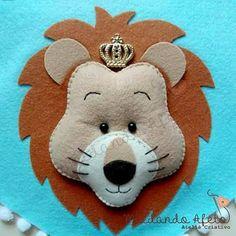 Molde de Leão para chaveiro - Ver e Fazer Felt Diy, Felt Crafts, Diy Crafts, Felt Patterns, Animal Faces, Felt Animals, Make And Sell, Craft Fairs, Puppets