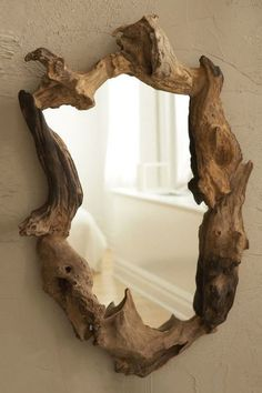 Mirror with frames made of root//