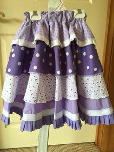 Lavender fields circle skirt size 6-7