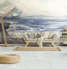 Carta da parati Mediterraneo Mural Wall Art, Wrapping, Tapestry, Home Decor, Houses, Painters, Hanging Tapestry, Tapestries, Decoration Home