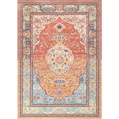 Silky RoadCenter Medallion AS17 Rug ❤ liked on Polyvore featuring home, rugs, medallion area rug, medallion rug, shag rugs, braided rugs and braided area rugs