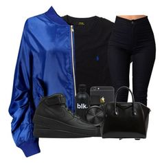 """"""": dark blue """" by omggzoee ❤ liked on Polyvore featuring Ralph Lauren, Boohoo, Givenchy, Michael Kors and NIKE"""