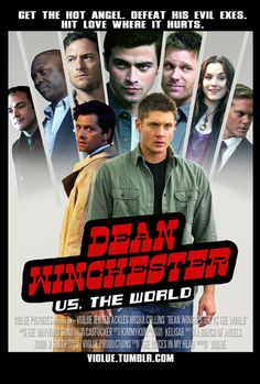 Maybe next time, we don't date the angel with eleven evil ex-boyfriends. Sam: Oh, that's not that bad. Supernatural Tv Show, Supernatural Poster, Winchester Boys, Winchester Brothers, Dean And Castiel, Twist And Shout, Jeffrey Dean Morgan, Scott Pilgrim, Jared Padalecki