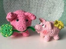 Das schnelle Schwein- Quick Quiecky...Glücksbringer mit kleinem Augentutorial- Gratisanleitung