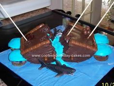 Homemade Shipwrecked Birthday Cake: This Shipwrecked Birthday Cake was made for my sons 3rd birthday. The party was a pirate theme. I searched online for cake ideas. I made this cake from