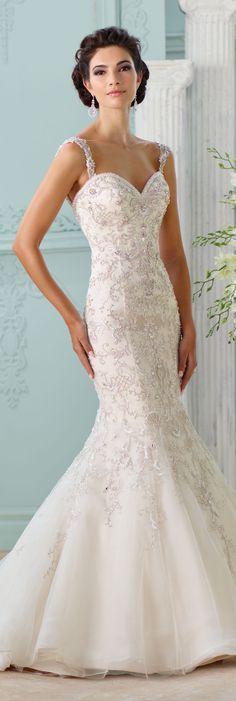 The David Tutera for Mon Cheri Spring 2016 Wedding Gown Collection - Style No. 116229 – Surya #laceweddingdresses