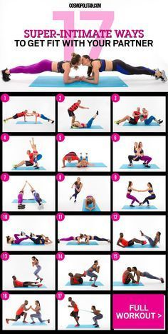 WORKOUT TO DO WITH YOUR BOYFRIEND OR GIRLFRIEND: These intimate exercises, designed and demoed by three real-life couples, will literally bring you closer — and give you a real workout while you're at it. Here you'll find the free workout you can do at ho Fitness Workouts, Lower Ab Workouts, Buddy Workouts, Easy Workouts, At Home Workouts, Cheer Workouts, Cardio Gym, Tabata, Partner Yoga