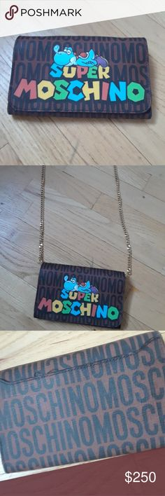 Moschino crossbody Bag Moschino 'Super Moschino' Yoshi Crossbody Bag 'Great Condition' Sold Out.  Includes Dust Bag. Moschino Bags Crossbody Bags