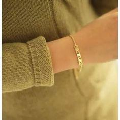 Roman Numeral Gold Bracelet