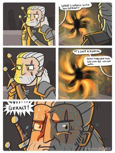 MYTHtakes 11 - Geralt Is Not A Fan of Portals by InAmberClad.deviantart.com on @DeviantArt
