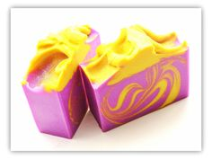 Petals Bath Boutique (Beacon Creations): Purple Rain Handmade Soap  she uses neon purple and says the key to getting the color to stick is adding just a bit of Violet Ultramarine to the mix