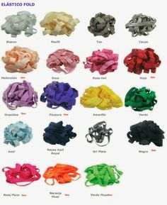 piratamorgan.com: nueva carta de colores 2014 cintas elásticas - 2 anchos Elastic Headbands, Colour Chart, Hair Bows, Letters, Hand Made, Flowers
