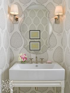 {Project Reveal}: Pennsylvania House | Bria Hammel Interiors | Powder Bathroom