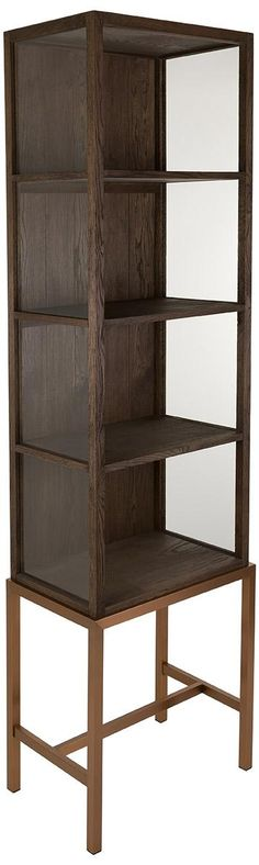 Safavieh Furniture AMH3729AFORDHAM CABINET - Tall, dark and handsome, the Fordham Cabinet was inspired by designer finds at the London Design Festival. Its luxurious copper satin finish on stainless s