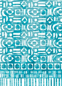 Megan Easom pattern aqua teal turquoise