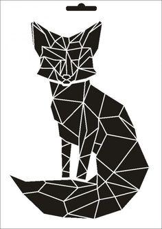 Stencil W-480 Fuchs ~ UMR Wand Schablone