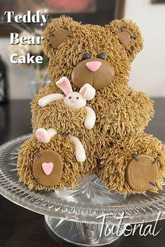 Teddy Bear Birthday Cake, Teddy Bear Cakes, Teddy Bears, Fab Cakes, Crazy Cakes, Family Cake, Picnic Birthday, Teddy Bear Baby Shower, Creative Cakes