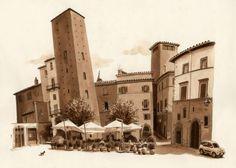 Piazza Gesu (Viterbo, Italy) by Fred Lynch FredLynch.com