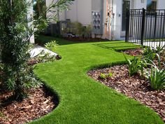 EasyTurf installation not only gives a lush green yard year-round but also saves on water cost! www.easyturf.com l outdoor living l backyard l artificial turf l fake grass l water conservation l go green