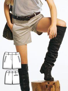 burdastyle 2/2011 #122B shorts