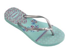 Havaianas flip flops. Royal ceramics and a symbol of wealth were the inspiration behind this elegant style accented with a metal elephant charm.