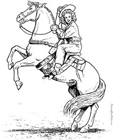 Horse coloring page Mare and her sleeping foal Horse stuffde