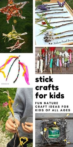 20 Beautiful Twig Crafts for Kids to Make Loving these stick crafts for kids - so many fun projects for kids who love to pick up sticks on your nature walks!<br> If your child loves collecting sticks you need this collection of twig crafts for kids of all ages. From fairy wands to twirling mobiles there's plenty of fun ways to craft with sticks! Kids Crafts, Twig Crafts, Fun Projects For Kids, Driftwood Crafts, Crafts For Kids To Make, Nature Crafts, Toddler Crafts, Craft Stick Crafts, Diy Projects