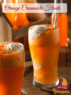 These Orange Creamsicle Floats are just like the classic 50/50 bars but in a drink form. Creamy vanilla ice cream surrounded by a sweet orange deliciousness… my mouth is watering just thinking about them! Today I want to share a guilt-free way to get a creamy flavor without adding an entire carton of ice cream. You (and your waistline!) are going to LOVE it!       Sponsored Link ------------------------------- Orange Creamsicle Floats Ingredients: orange soda, cold vanilla ice cream .....