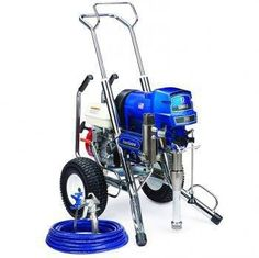 """The Graco 16W873 (Old# 248691) GMax II 5900 Hi-Boy CONVERTABLE Standard Series Gasoline Airless Sprayer comes complete with the Graco Contractor Spray Gun, RAC-X 517 Switch Tip and Guard and 50'x 1/4"""" BlueMax Airless Hose.With a 160 cc Honda engine and the ability to spray up to 1.6 gallons per minute, the GMAX II 5900 is the industry standard for the professional contractor who sprays a wide variety of coatings on residential, commercial, and industrial jobs.In addition, The Standard…"""