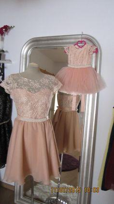 Set mama fica de rochii din dantela si tulle cu un cordon de perlute Tulle, Formal Dresses, Skirts, Fashion, Formal Gowns, Moda, Fashion Styles, Tutu, Fasion
