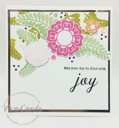 171 - Handmade Card - May Your Day Be Filled With Joy #Papertrey, #Flowers,