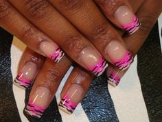 faded acrylic with painted zebra stripes