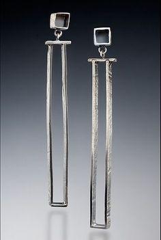 Long and Graceful Earring: Nina Mann: Silver Earrings - Artful Home