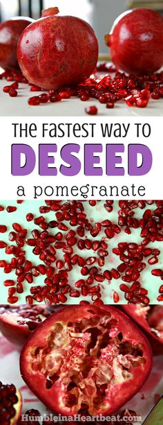 Deseeding pomegranates can be tricky if you've never learned how. Learn how to do it the right way with this tutorial, and take advantage of these delicious winter fruits before they're gone! Cooking Classes, Cooking Tips, Cooking Recipes, Healthy Snacks, Healthy Eating, How To Cook Meatballs, Best Appetizers, Frugal Meals, Kid Friendly Meals