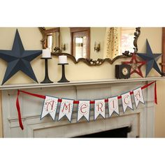 America Banner Free Printable From @AtSecondStreet  #4thofJuly #FREE #Printables