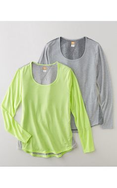Long-Sleeve Workout Tee by lucy activewear®