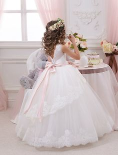 Hey, I found this really awesome Etsy listing at https://www.etsy.com/listing/453522750/ivory-flower-girl-dress-tulle-flower