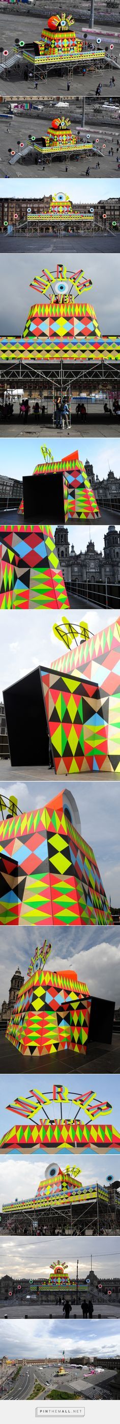 morag myerscough & luke morgan add immersive camera obscura to mexico city square - created via https://pinthemall.net