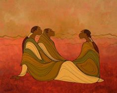 Family - Contemporary Canadian Native, Inuit & Aboriginal Art - Bearclaw Gallery