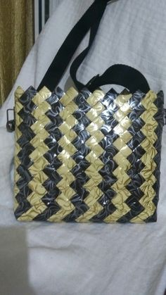 Modular Origami, Straw Bag, Tote Bag, Handbags, Purses, Brown Bags, Paper Envelopes, Recycling, Sacks